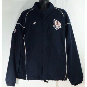 Champion New Jersey Nets NBA Warm Up Jacket XXL